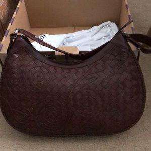 Brown leather Brighton hobo